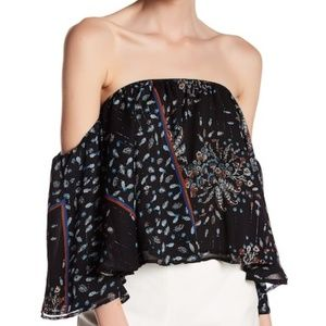 Romeo & Juliet Couture Off The Shoulder Black Top